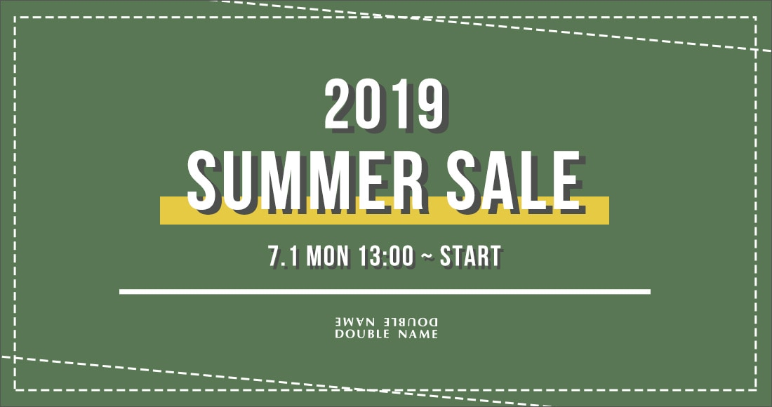 DOUBLE NAME 2019sale